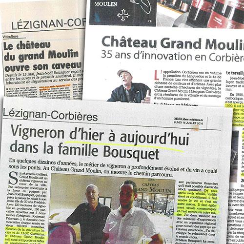 Article Frederic et Jean-Noël Bousquet au Château Grand Moulin
